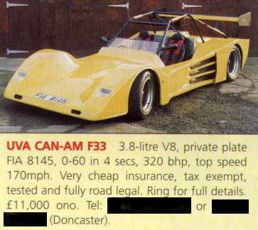 Advert from Which Kit? for F33