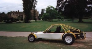 My Fugitive 4 as I originally got it,fitted with a 2 litre Fiat Twin Cam engine mated to a VW gearbox. The rear seats are not really very visible as they consist of a bench type rear seat and are below the line of the body panels. Current plans are to swap to Alfa Boxer power.